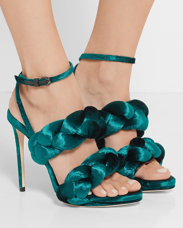 Velvet sandals Marco De Vincenzo TCcgaKdrqk