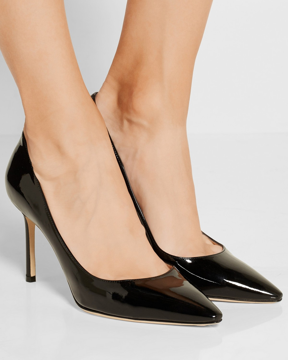 290501605dc3 JIMMY CHOO Romy patent-leather pumps - Shoes Post
