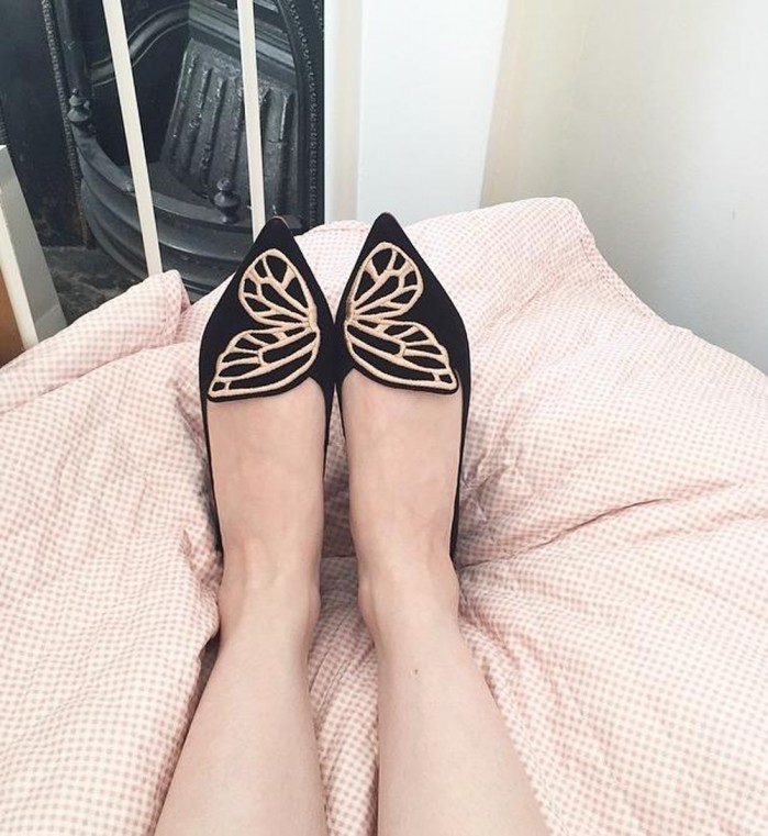 SOPHIA WEBSTER Bibi Butterfly embroidered flats ChMWBitkZh