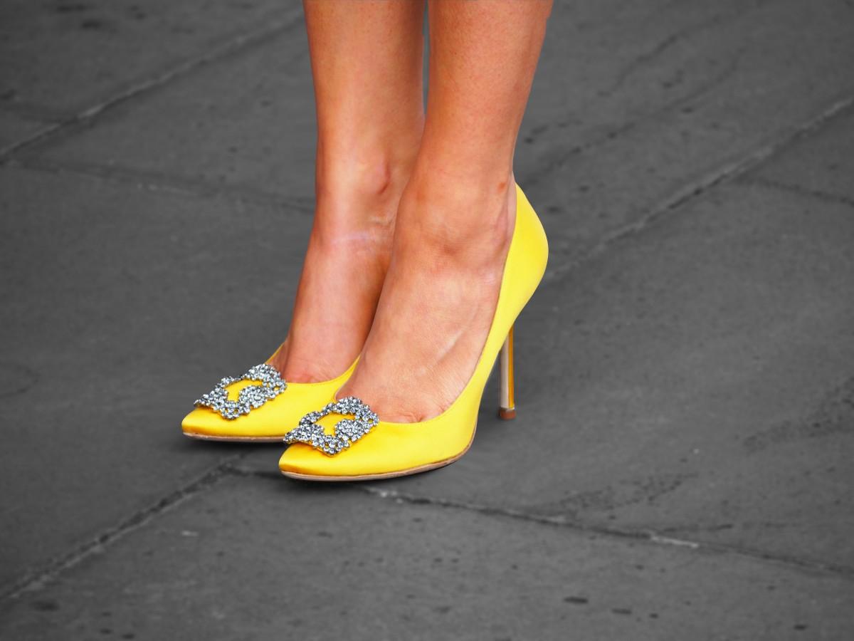84912b3153e ... release date manolo blahnik hangisi satin crystal toe pump yellow e4a17  3d700