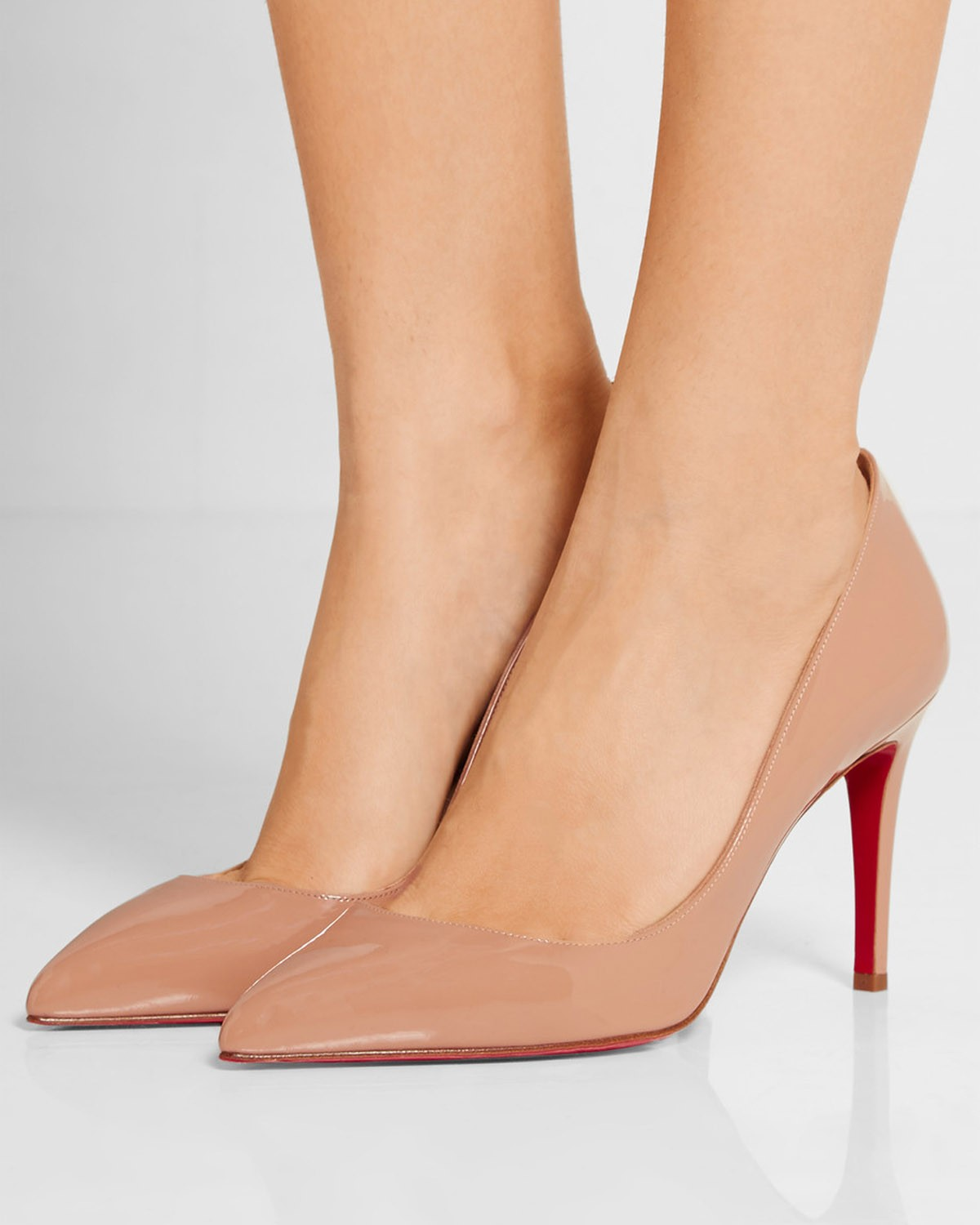 286e4130393 CHRISTIAN LOUBOUTIN Pigalle 85 patent-leather pumps - Shoes Post