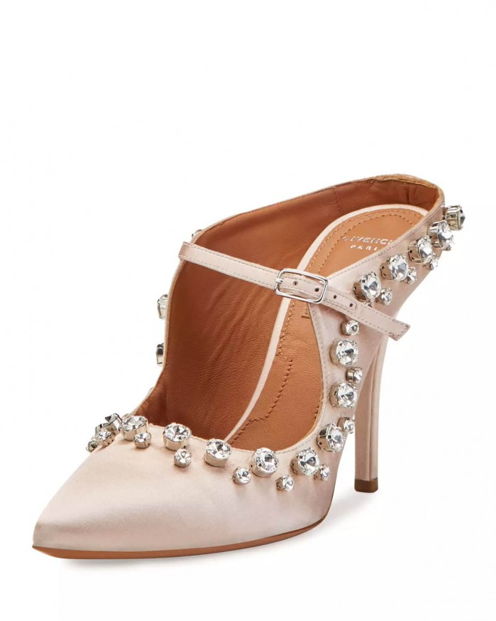 Givenchy Crystal-Trim Mary Jane 110Mm Mule, Nude Pink - Shoes Post-9244