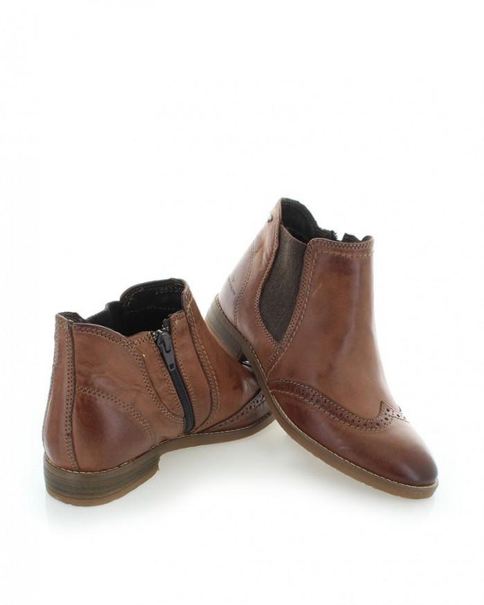 brown ankle boots tom tailor shoes post. Black Bedroom Furniture Sets. Home Design Ideas