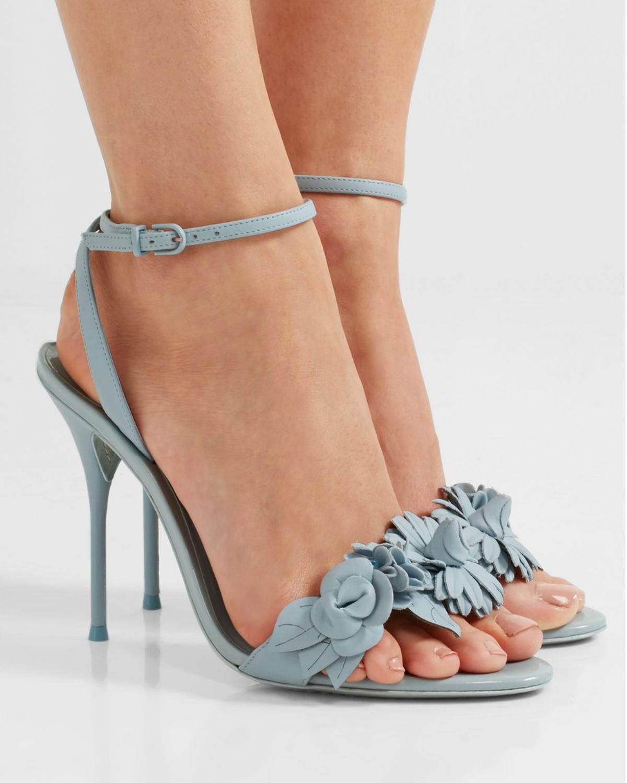 f94d3232e746 SOPHIA WEBSTER Lilico appliquéd leather sandals - Shoes Post