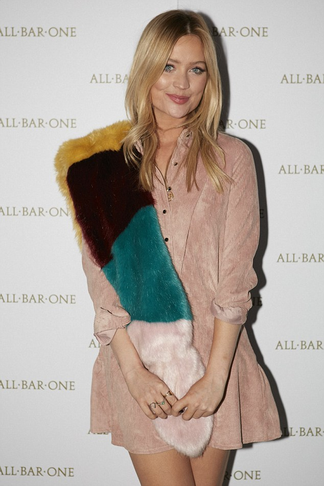 Centre of attention Laura Whitmore showed her outfit was all in the details with a pink dress from Sister Jane at the All Bar One Leicester Square launch party