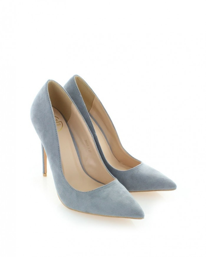 loriblu gray suede high heel bootie shoes post. Black Bedroom Furniture Sets. Home Design Ideas
