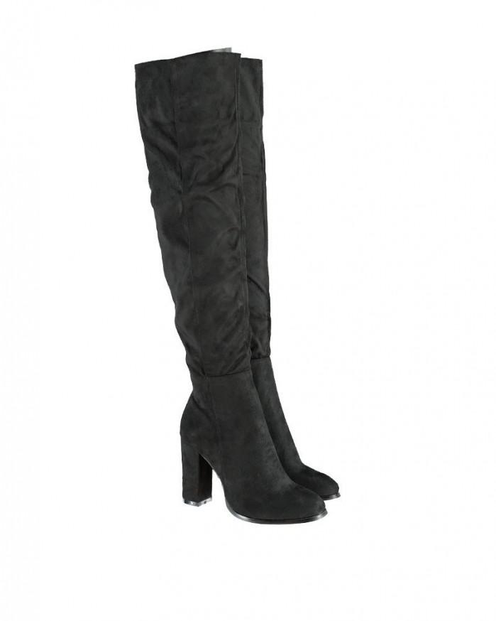 PATRIZIA PEPE Black Genuine Leather Women's Boots - Shoes Post