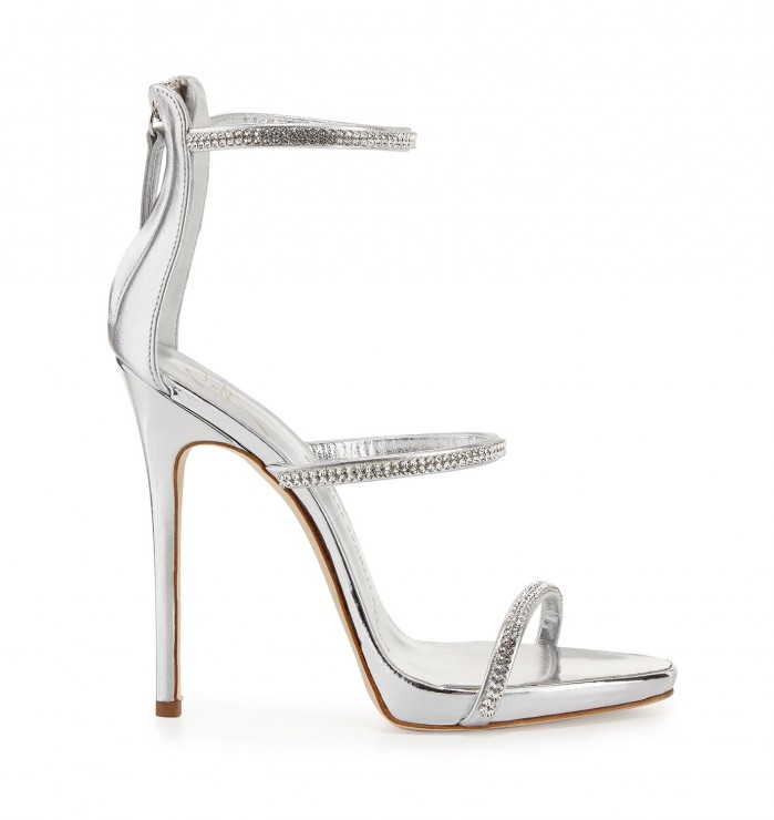 9530a6cb651e1 Giuseppe Zanotti Jeweled Three-Strap 110mm Sandal - Shoes Post