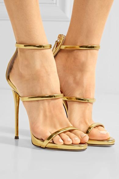 Joanna Krupa S Rose Gold Heeled Sandals Shoes Post