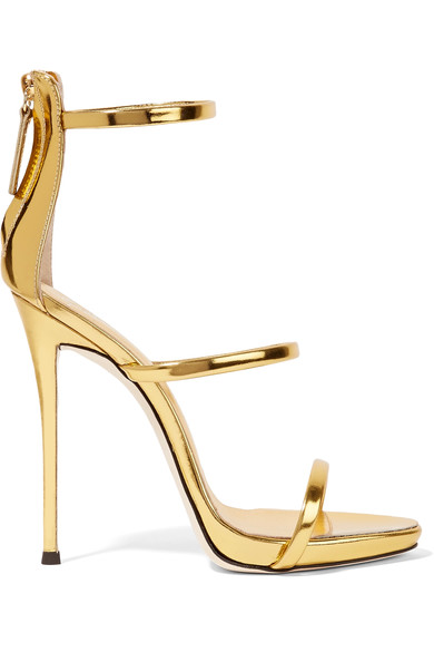 Lily Donaldson S Metallic Leather Triple Step Sandals