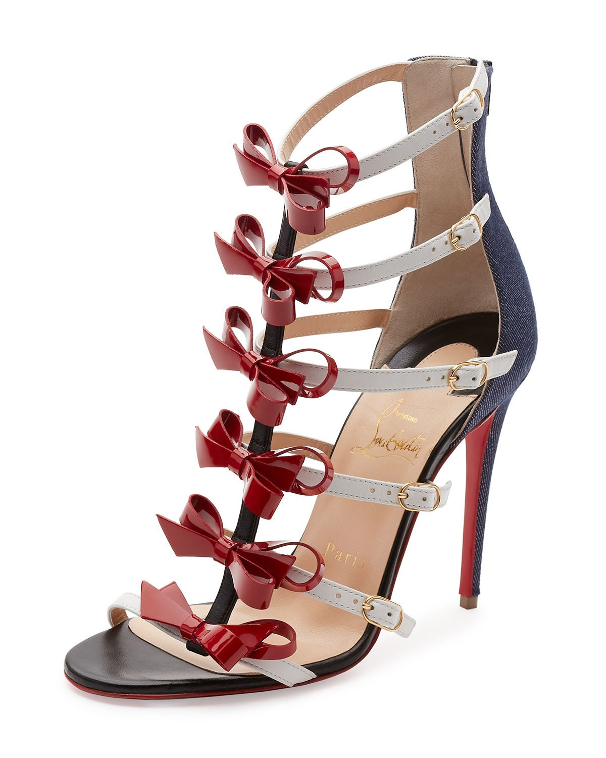 Christian Louboutin Girlystrappi Bow 100mm Red Sole Sandal