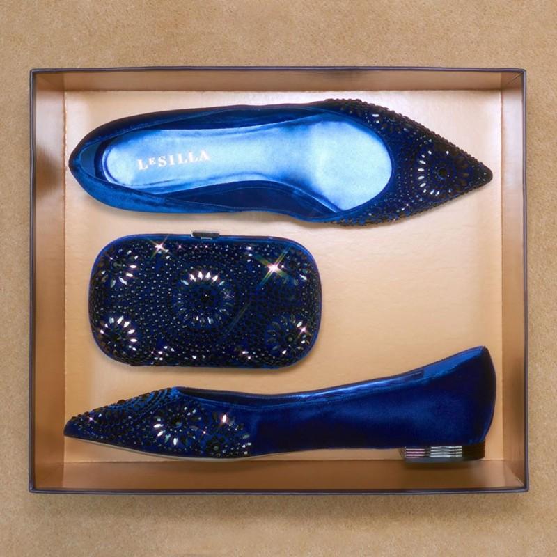 Le Silla Pompadour ballet flat in Velvet - Shoes Post