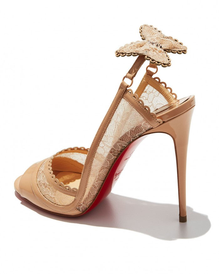 283eadb2504 Christian Louboutin Hot Spring Butterfly 100mm Red Sole Pump