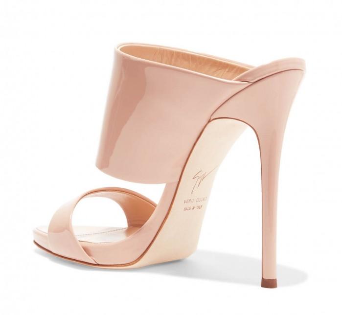 4cac5557e2baf GIUSEPPE ZANOTTI Andrea patent-leather mules - Shoes Post