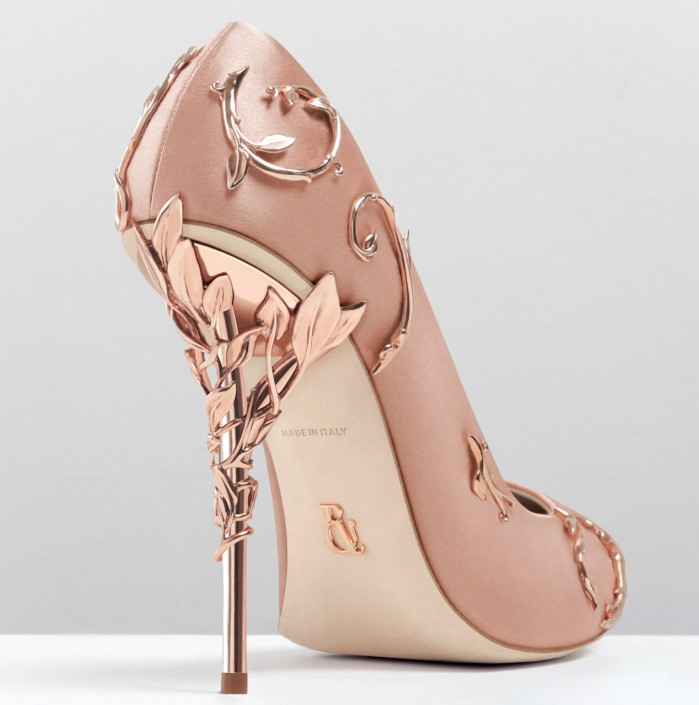 Ralph And Russo Eden Pump Vintage Pink With Rose Gold