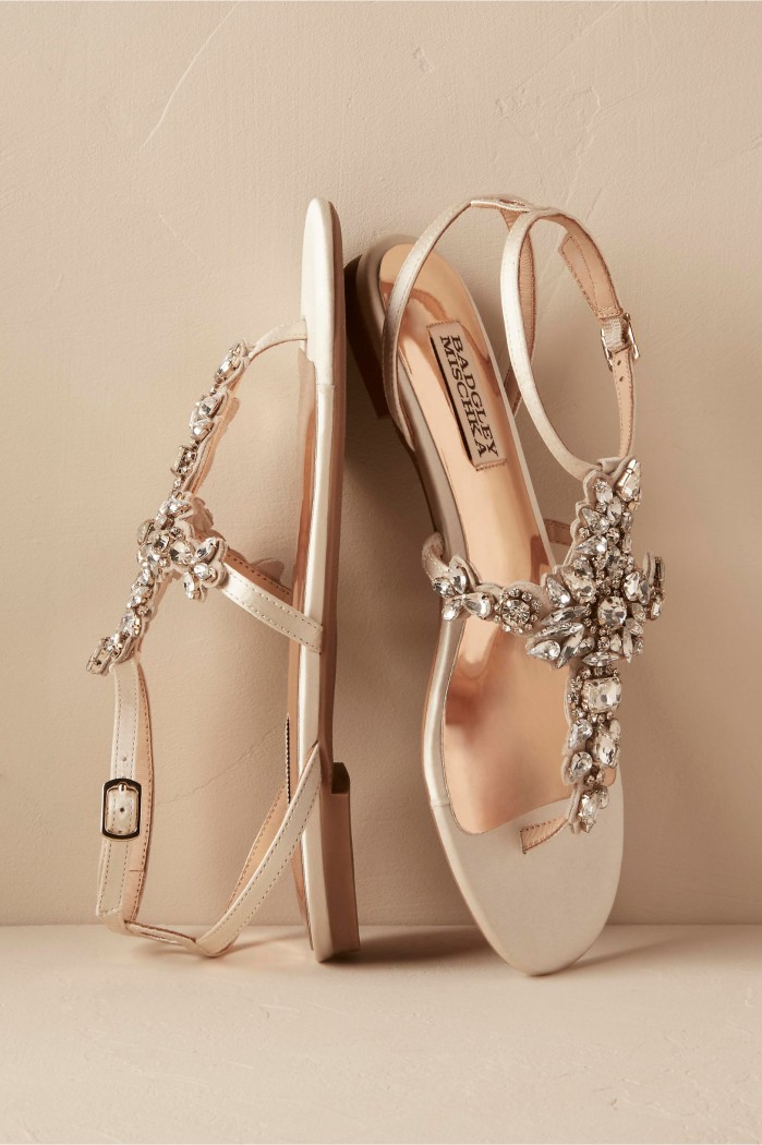 Bhldn maldiva sandals shoes post for Flat dress sandals for weddings