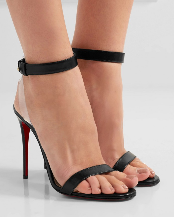 save off 243b2 624a5 CHRISTIAN LOUBOUTIN Jonatina leather and PVC sandals - Shoes ...