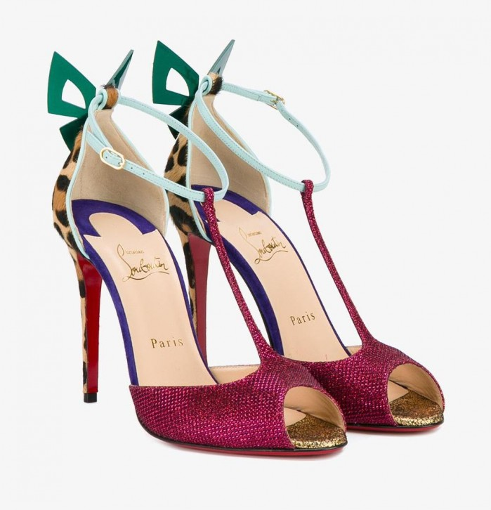 Christian Louboutin T Bar Bow Sandals Shoes Post