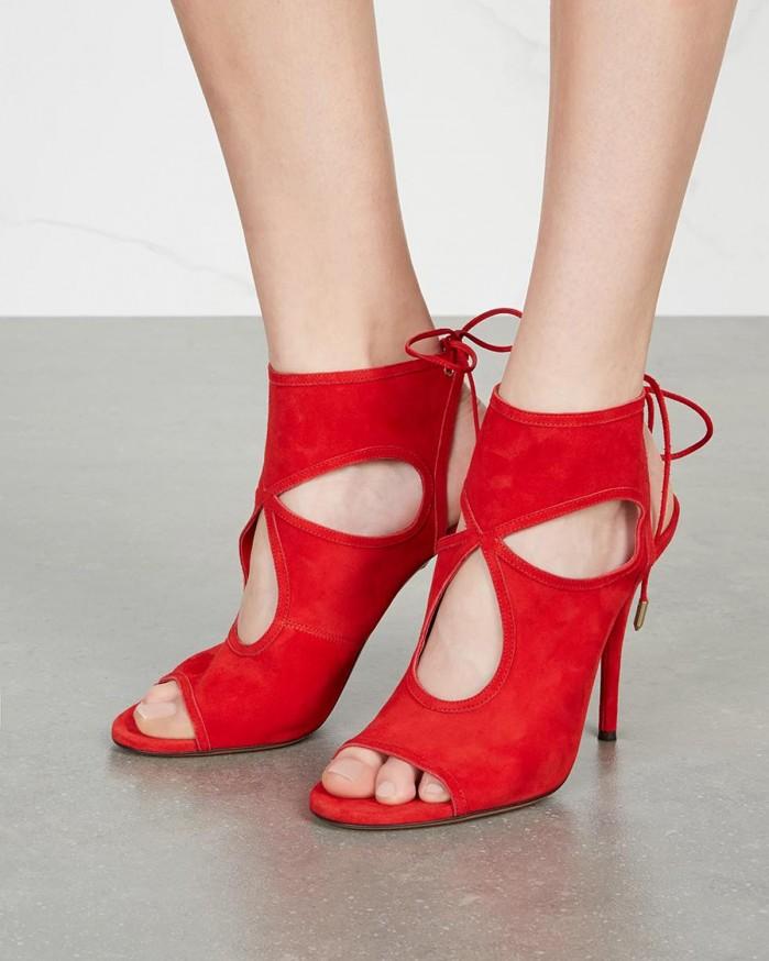 Aquazzura Sandales Chose Sexy - Rouge gDwcuqG