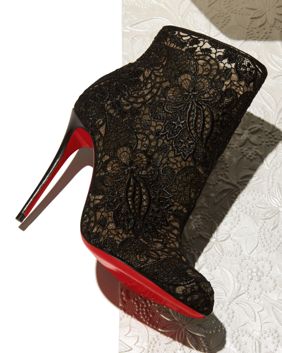 a7057699247a sweden christian louboutin miss tennis net lace red sole bootie black 78cb5  6b509