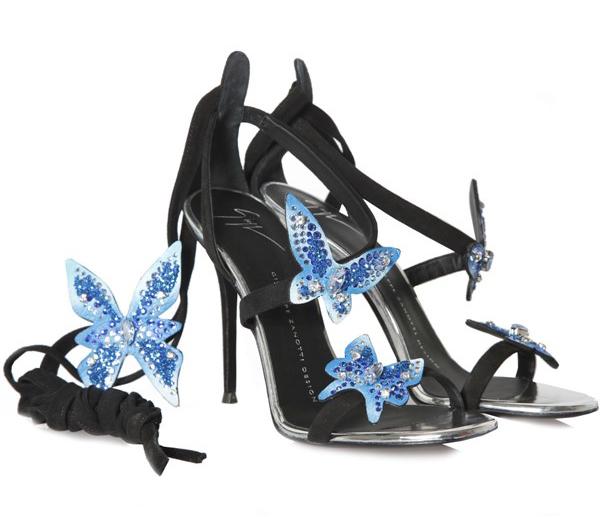 cf6a45f18a72b Giuseppe Zanotti Estelle Suede Sandals Black - Shoes Post