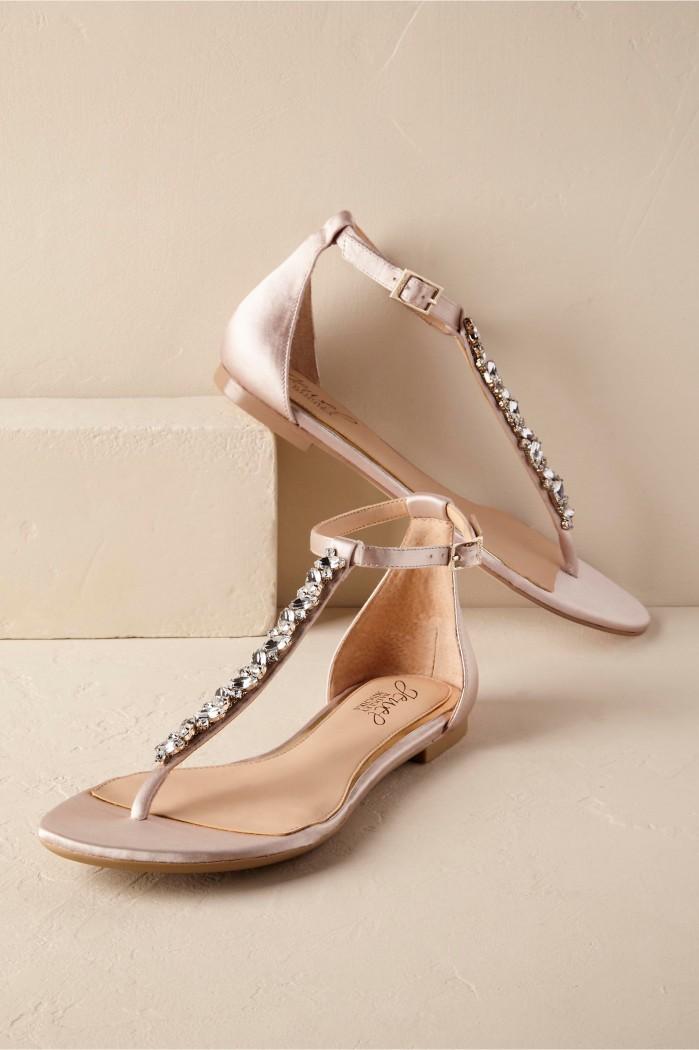 Flat Gold Bridesmaid Shoes
