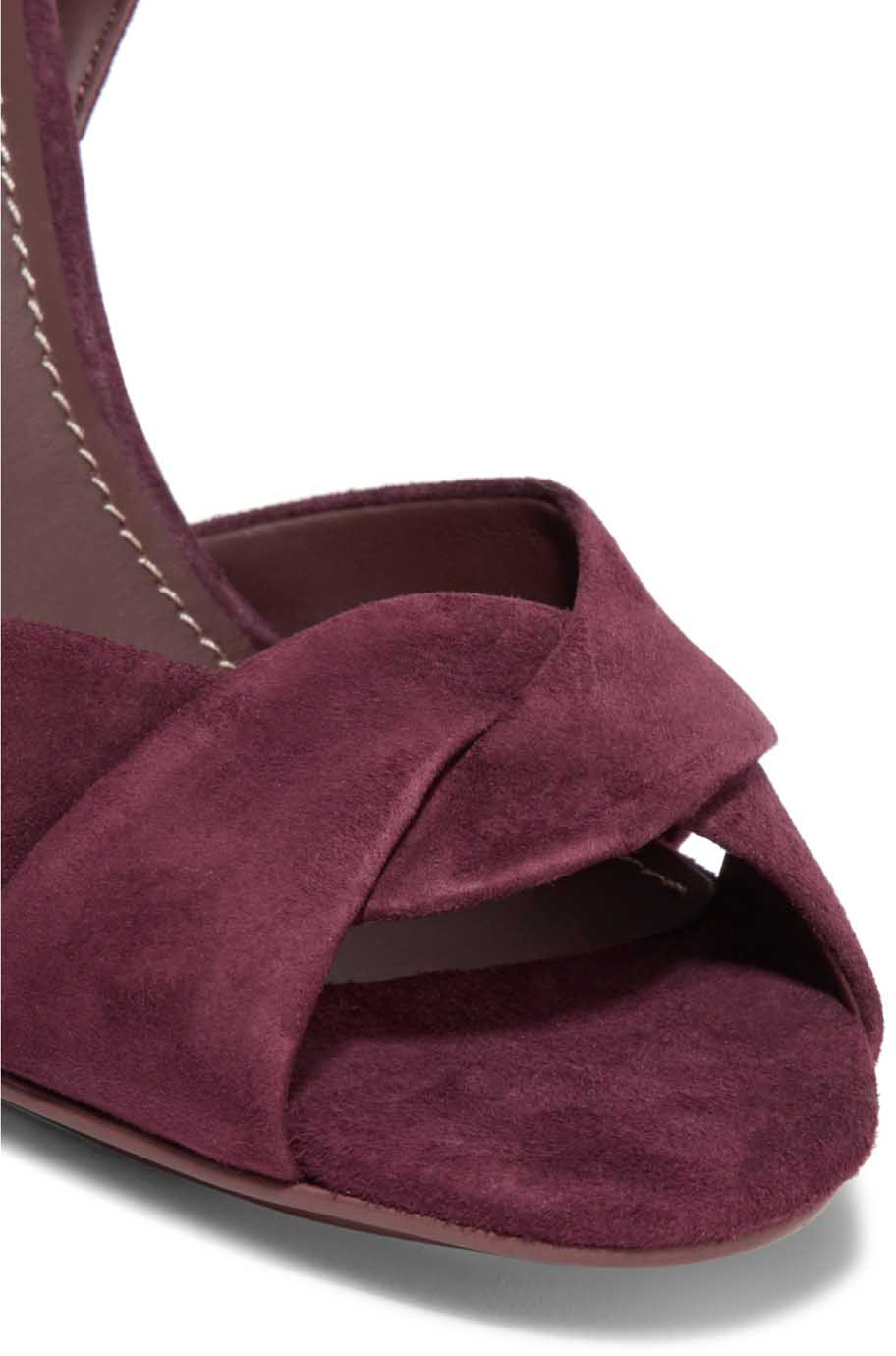 Chlo 233 Embroidered Suede Sandals Shoes Post