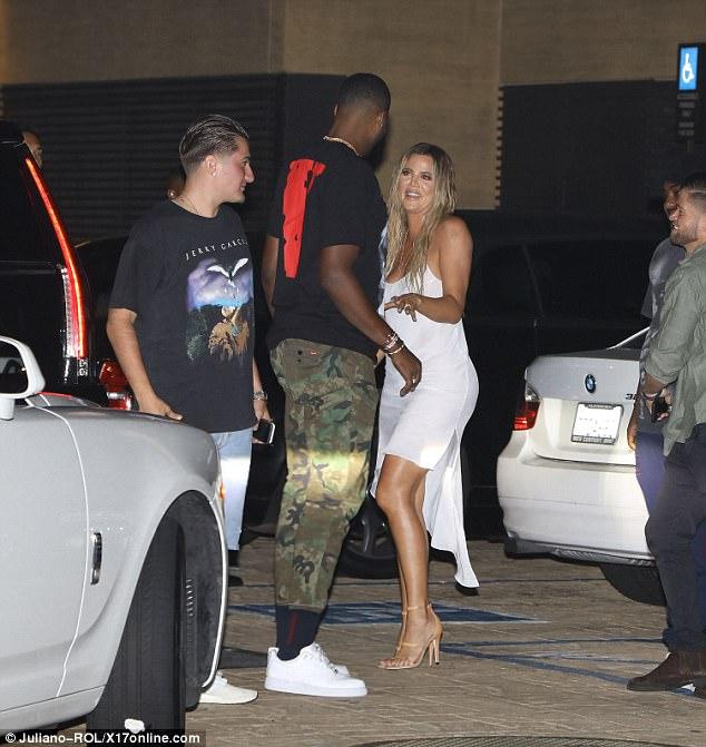 83a97841e7d Khloe Kardashian enjoying a date Night with beau Tristan Thompson ...