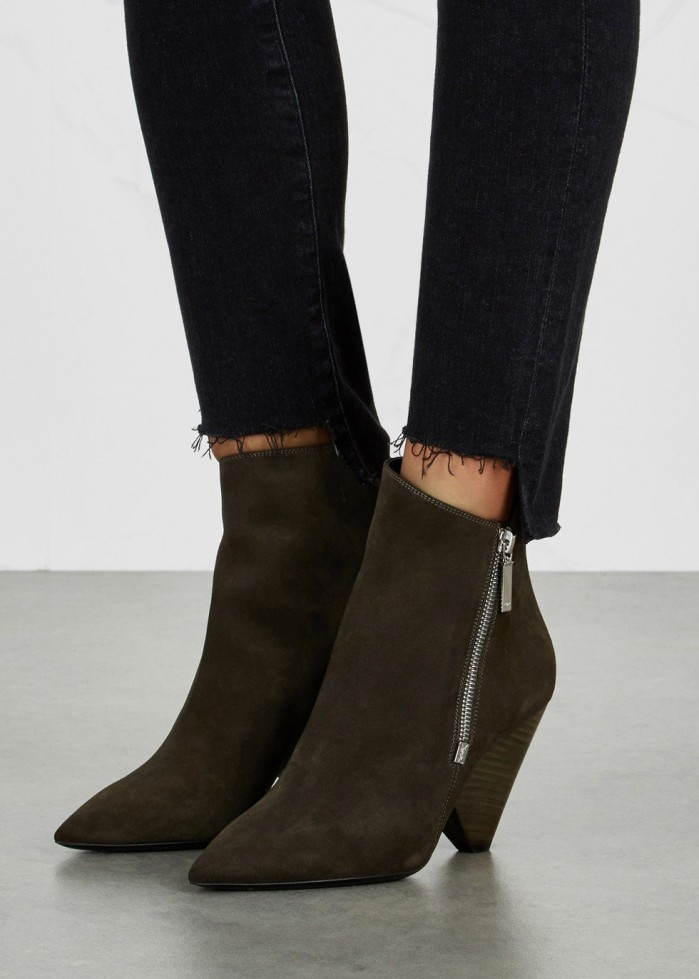 bbb0be7a854b SAINT LAURENT Niki suede ankle boots - Shoes Post