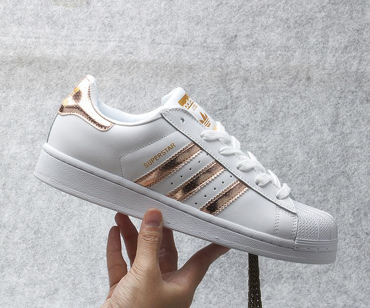 887e70986e2dc Adidas Superstars White And Rose Gold Adidas Superstars White And ...