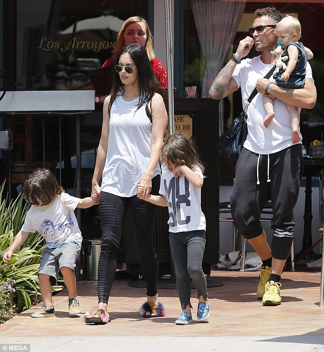 Megan Fox looks happy with her family - Shoes Post