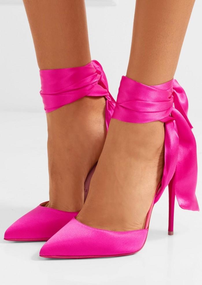 6234dce179e3 CHRISTIAN LOUBOUTIN Douce du Desert 100 satin-crepe pumps - Shoes Post