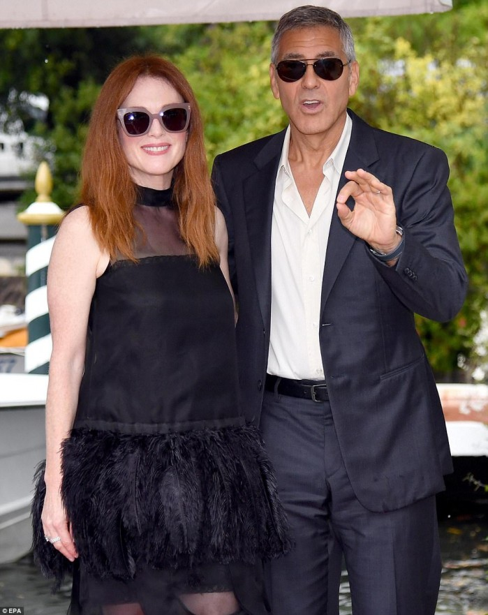 Julianne Moore And George Clooney At The Venice Film