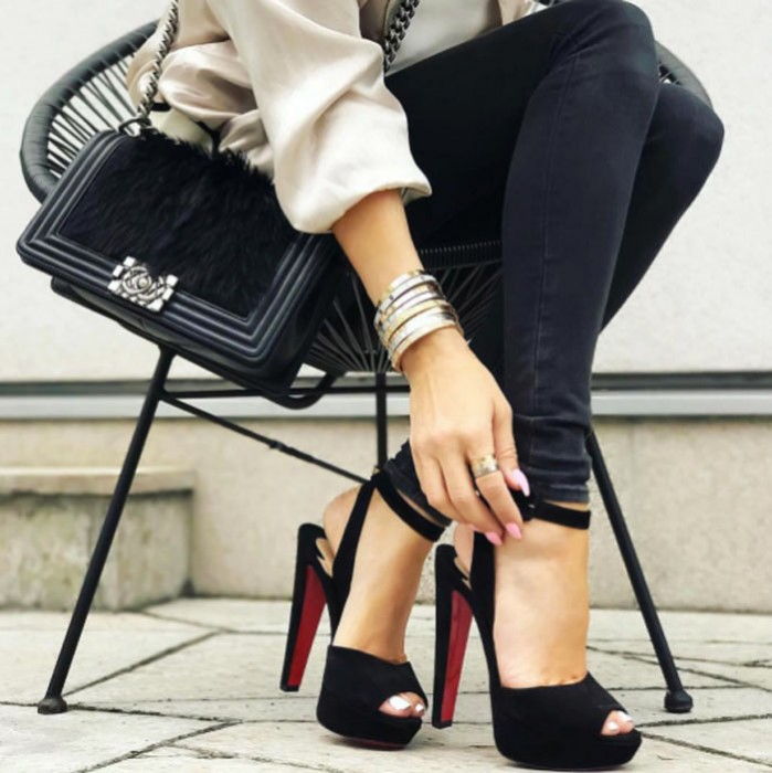 Christian Louboutin Suede Platform Sandals sale Inexpensive Cheapest cheap price mWtgQvt