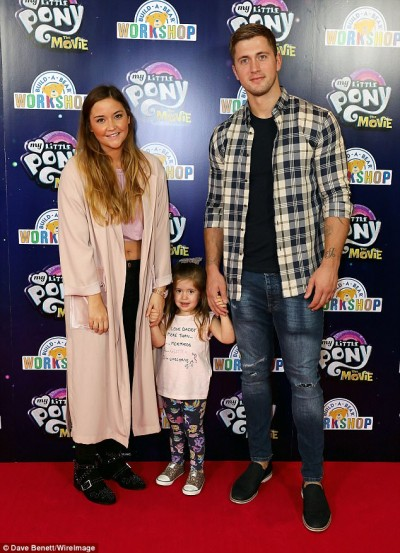 Jacqueline Jossa and her beautiful family last night in London