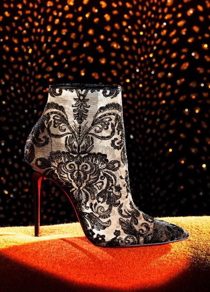 official photos 55585 8faee Christian Louboutin Lace Bootie - Shoes Post