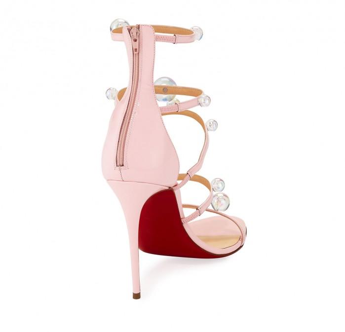 uk availability 529a2 575b4 Christian Louboutin Atonana Patent Strappy Red Sole Sandal ...