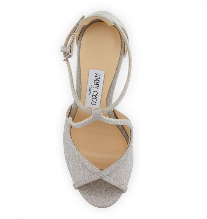 38a70227f9d Jimmy Choo Fawne Glitter Leather 120mm Sandal - Shoes Post