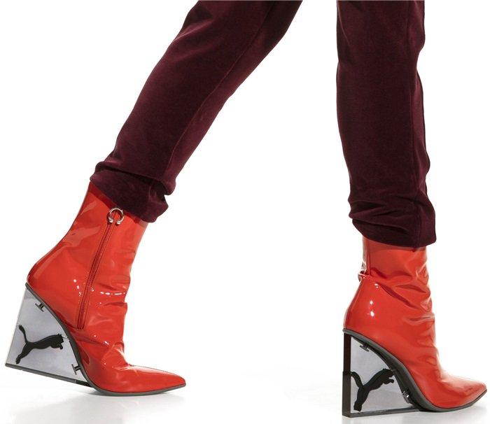 fenty womens cat wedge mules shoes post
