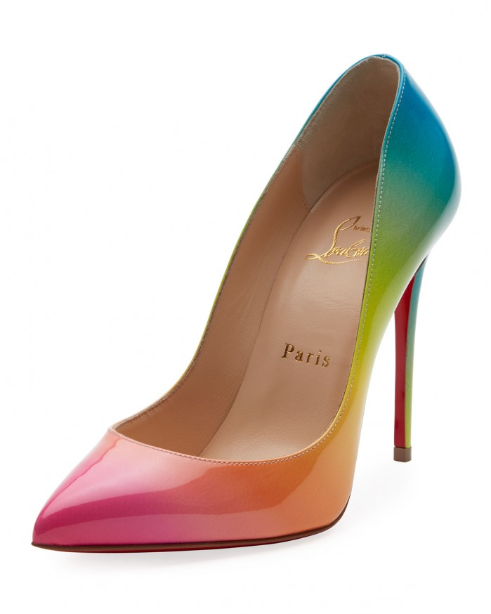 new concept 11e4a ea42f Christian Louboutin Pigalle Follies 100mm Ombre Patent Red ...