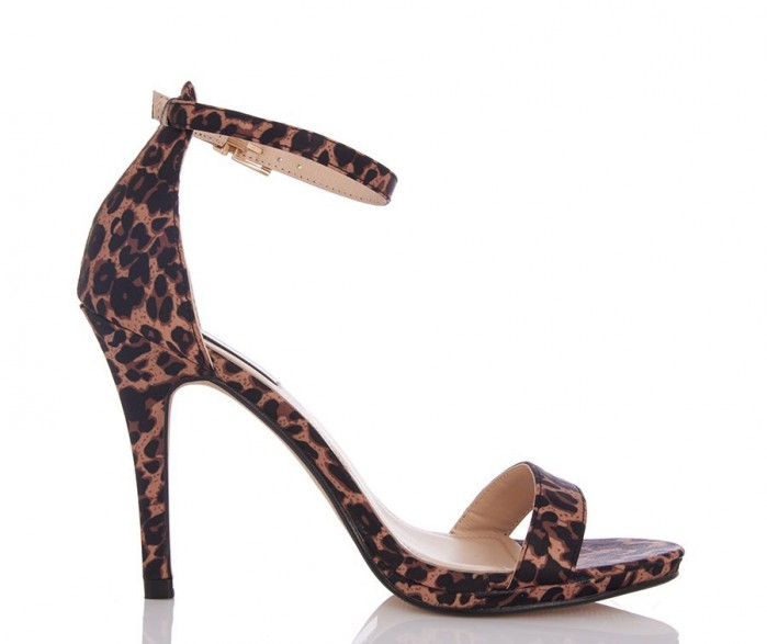 108fba13e40c9 QUIZ Olivia s Leopard Print Satin Heels - Shoes Post