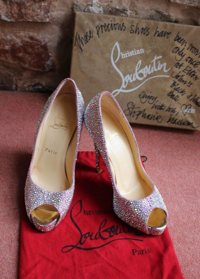 many styles 100% genuine special section Christian Louboutin New Very Riche 120 Peep-Toe Red Sole Pumps ...