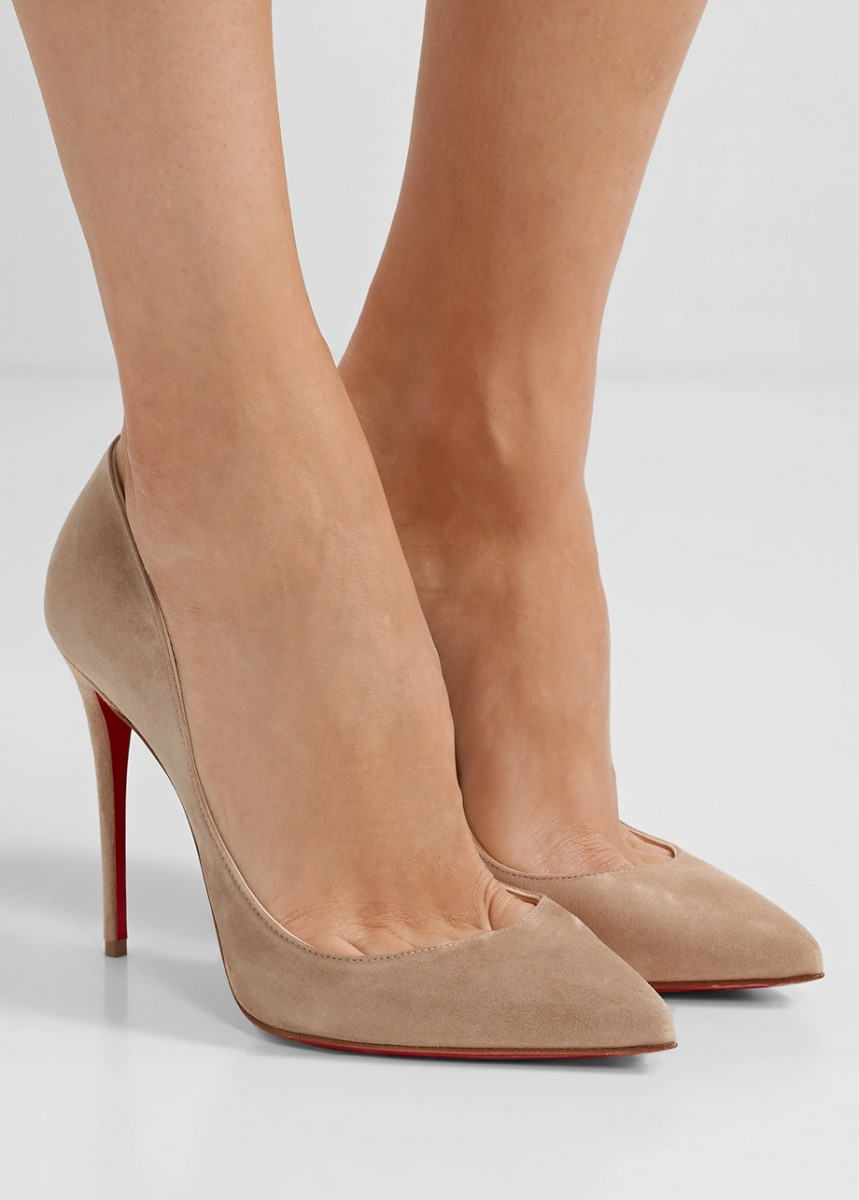 low priced bfda4 46630 CHRISTIAN LOUBOUTIN Pigalle Follies 100 suede pumps - Shoes Post