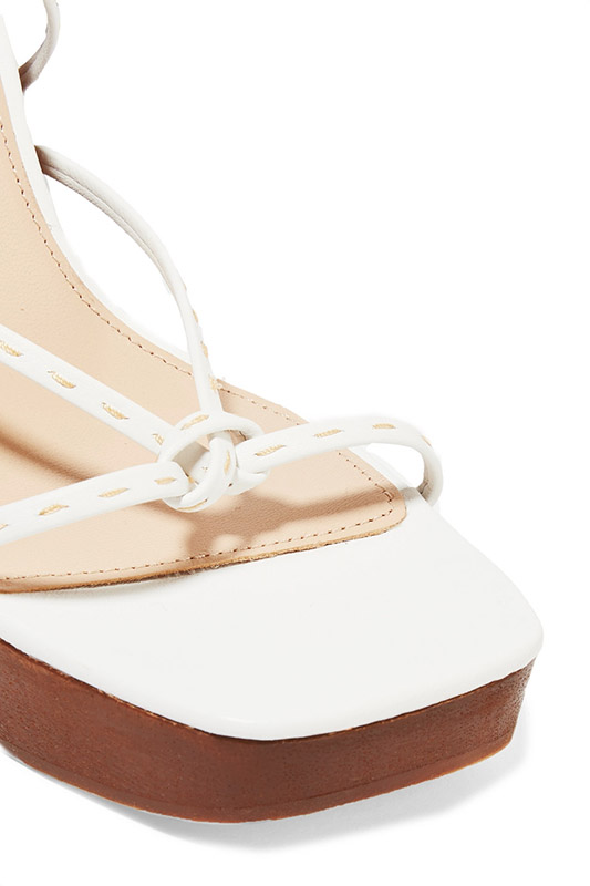 Jacquemus Leather Wedge Sandals Shoes Post